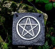 Pentacle Plaque Wall Hanging Sign Pentagram Handmade Protection Pagan Wicca Tile