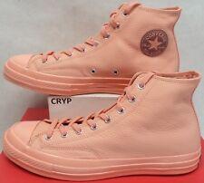 New Mens 10 Converse CTAS 70 Hi Triple Pale Coral Leather Shoes $100 159656C