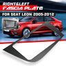 2 Din Stereo Radio Fascia Dash Panel Plate Frame RHD Gray For Seat Leon
