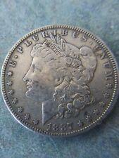 "1887-P Morgan Silver Dollar ""Donkey Tail"""