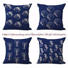US SELLER-4pcs pillows cushions cushion covers lobster fish sea star