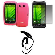 for BlackBerry Torch 9860 Case Gel Pink+SP+Car Charger
