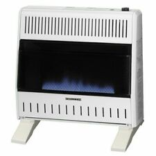 ProCom Dual Fuel Ventless Blue Flame Gas Heater With Blower and Base, 30,000 BTU