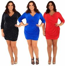 Knee Length 3/4 Sleeve Party Dresses Plus Size for Women