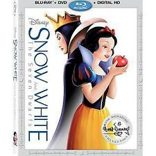 SNOW WHITE AND THE SEVEN DWARFS (BLU RAY + DVD + DIGITAL HD) NEW W/ SLIPCOVER