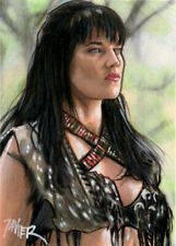 XENA Lucy LAWLESS Warrior Princess SKETCH Card PRINT 1 of 15 ART