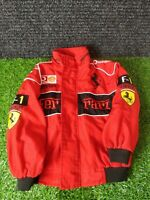 Official Ferrari F1 Boys Kids Red Black Jacket Vodafone- Kids Medium Formula One