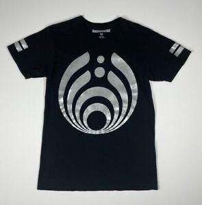 Bassnectar Front Back Silver Graphic Print Logo T-Shirt Men's Size Medium