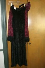 Velvet Gothic Woman Costume/Dress Size M With Collar