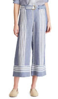 Lauren Ralph Lauren Striped Linen Cropped Pants MSRP $125 Size 14 # TR 55 NEW