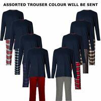 Mens M&S 100% Cotton Loungewear Long Sleeve Top Bottom Pyjama Night Set New