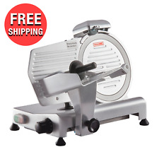 Commercial Kitchen 10 Manual Gravity Feed Compact Food Meat Slicer Cutter 14hp