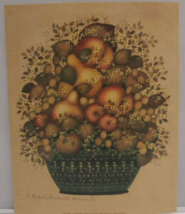 "Fruit Basket Still Life pears Fall - 8x10"" 1999 Selavy - Printed USA - NEW A110"