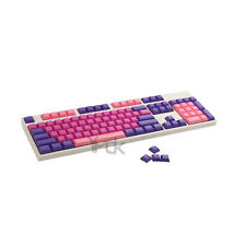 YMDK 108 Blank Pink Purple Mixed Valentine DSA Keyset PBT For MX Mechanical Key