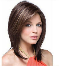 HE-J1043   New fashion  short brown  mix health hair lady wigs for women wig