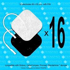 Pack 16 electrodos 50x50 mm  con conector PIN para GLOBUS