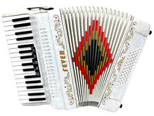 Fever Piano Accordion 5 Switches 34 Keys 60 Bass, White