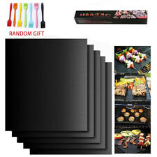 5 x BBQ Grill Mat Reusable Non-Stick Oven Liners Teflon Cooking Barbecue Baking