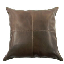 MANDAVA Genuine Vintage Oily Cow Leather Pillow Cover Cushion Cover