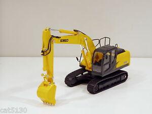 """Kobelco SK210LC-9 Excavator - """"YELLOW"""" - 1/43 - Brand New"""