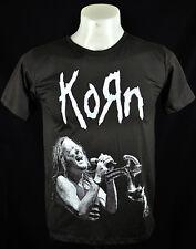 Dark T-Shirt Korn Jonathan Davis Metal Punk Rock Crew Tee Size L