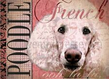 FRENCH POODLE Dog Print Poster -Standard -Vintage Series by Wendy Presseisen