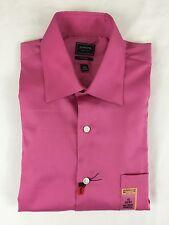 571f6031972e NEW NWT Arrow Men s 15 32 33 Bright Pink No Iron Dress Shirt New With