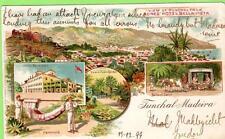 Early Gruss Aus Funchal Madeira Portugal Jones' Hotel  Bella -Vista used 1899