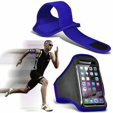 Quality Sports Armband  Gym Running Workout Belt Strap Phone Case Cover✔Blue