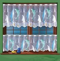 BATHROOM KITCHEN NET CURTAIN SOLD BY METERS DOLPHIN DESIGN
