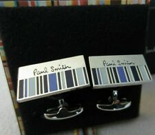 Paul Smith Purple half stripe Cufflinks