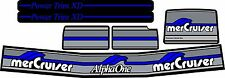 MERCRUISER THE ORIGINAL STYLE BLUE ALPHA ONE GEN TWO  W/BLUE RAMS STICKER SET