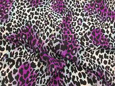 Purple Animal Print Crepe De Chine Printed Dress Fabric. Price Per Metre!