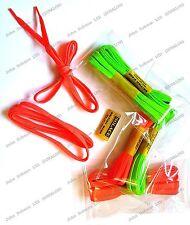 Fluorescent Flat Trainer Laces Orange Green Solace Shoe laces 1pair 90 cm UKMade