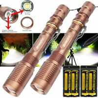 Details about  /350000Lumens 4x 5Models Zoomable Lamp LED Flashlight Aluminum Torch Light