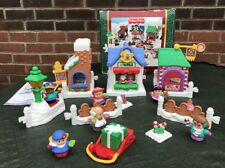 Fisher Price Vintage Little People Xmas Christmas Main Street Musical Mattel