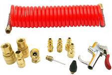 12Pcs Air Compressor Accessory Pneumatic Tool Set Kit Hose Gun Tire Gauge