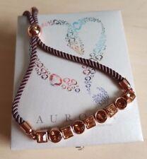 Aurora Swarovski Crystal Mixed Shapes Friendship Bracelet, Rose Gold, BNIB