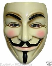 V Vendetta Costume Mask Guy Fawkes Anonymous Halloween Cosplay Party Fancy Dress