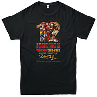 Iron Man T-Shirt,12 Years Of Iron Man Avengers Marvel Comics SuperHeroes Top