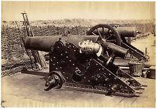 1870s | att. V. Roger | FRENCH heavy CANNON | artillery | LARGE albumen PHOTO