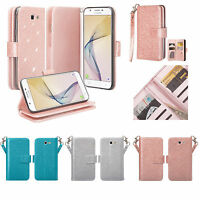 Samsung Galaxy Phones, Luxury Glitter Bling Pu Leather Wallet Case Cover Clutch
