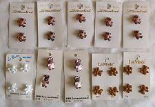 "Lot of 26 Novelty Buttons TEDDY BEARS On Card by Streamline La Mode JHB ¾"" Size"
