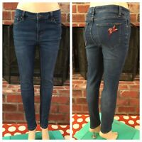 Matilda Jane Medium Wash Hummingbird Embroidered Skinny Jeans Size 8