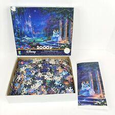 Disney Cinderella Dancing Thomas Kinkade Puzzle 2000 Pieces with Poster
