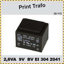 Print Trafo 2,6VA, 9V, Trafo, Printtrafo, neu BV EI 304 2041