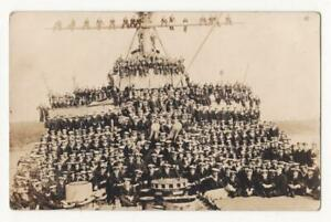 CANADA, BATTLESHIP with ASSEMBLED CREW on DECK - RP c.1920s - Royal Navy