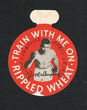Very Rare boxing 1936 Jack Dempsey Rippled Wheat advertising piece picturing