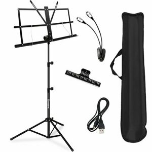 New KASONIC Professional MUSIC STAND Collapsible Portable Sheet Clip Holder NIB