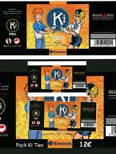 Pack 4 étiquettes bières Ki Two Natacha Brian Bones